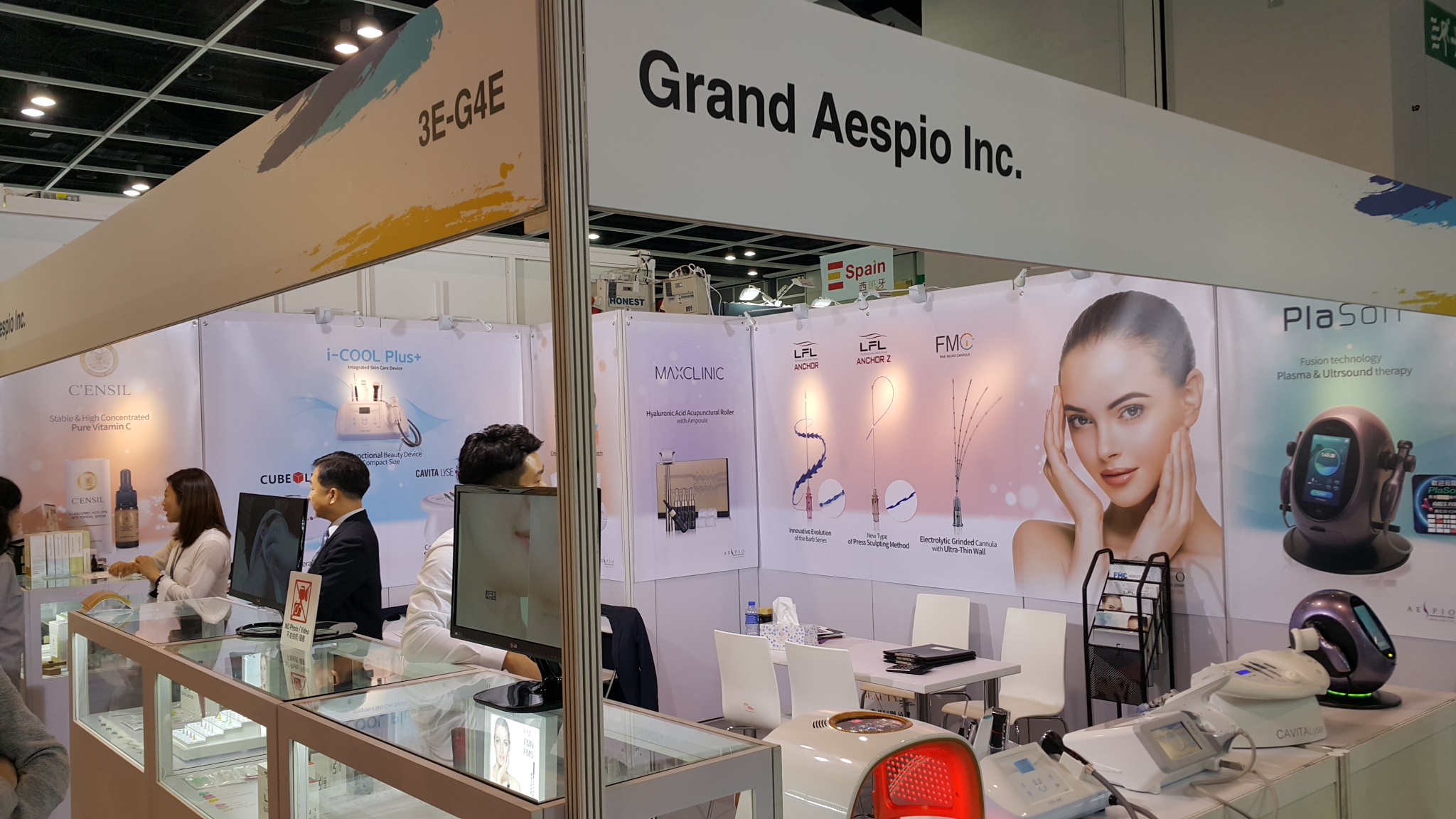 Grand Aespio exhibited at 22nd COSMOPROF 2017